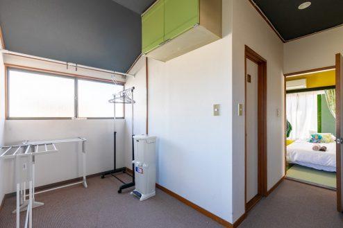 16.柴又ゲストハウス|物干しスペース