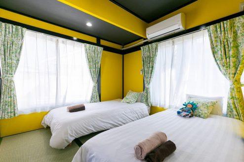 11.柴又ゲストハウス|ベッドルーム(和室)