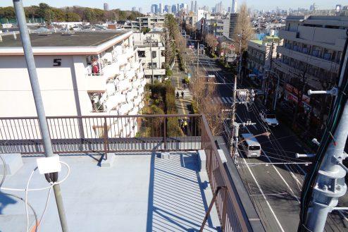 7.マンション屋上・杉並区|新宿方面・方南通り