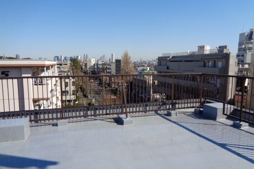 4.マンション屋上・杉並区|新宿方面・方南通り